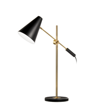 Dainolite 130T-BK-VB - 1LT Adjustable Table Lamp, Black & Vintage Bronze