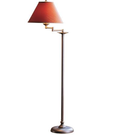 Simple Lines Swing Arm Floor Lamp